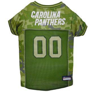 Carolina Panthers Pets First Camo Pet Football Jersey - Camo XL