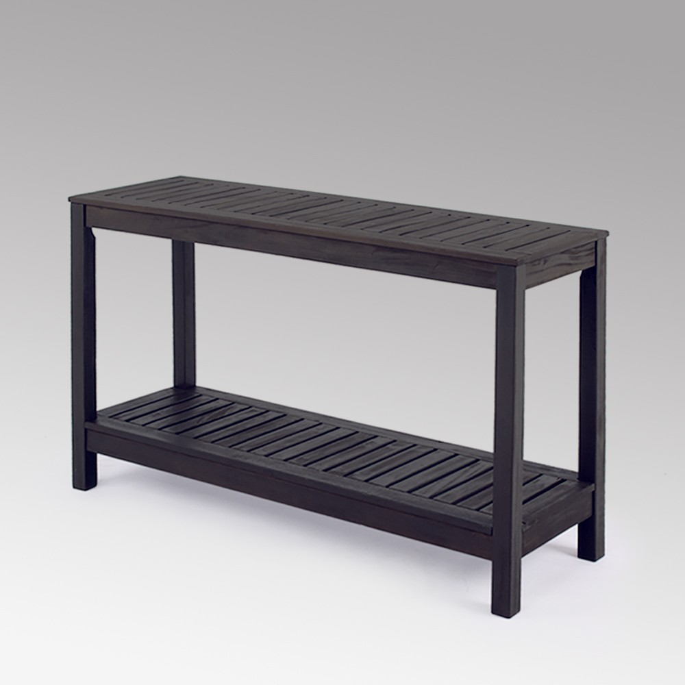 Image of Alfresco Wood Patio Console Table - Cambridge Casual, Gray