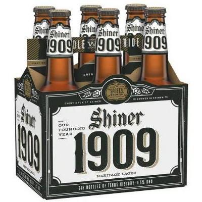Shiner 1909 Beer - 6pk/12 fl oz Bottles