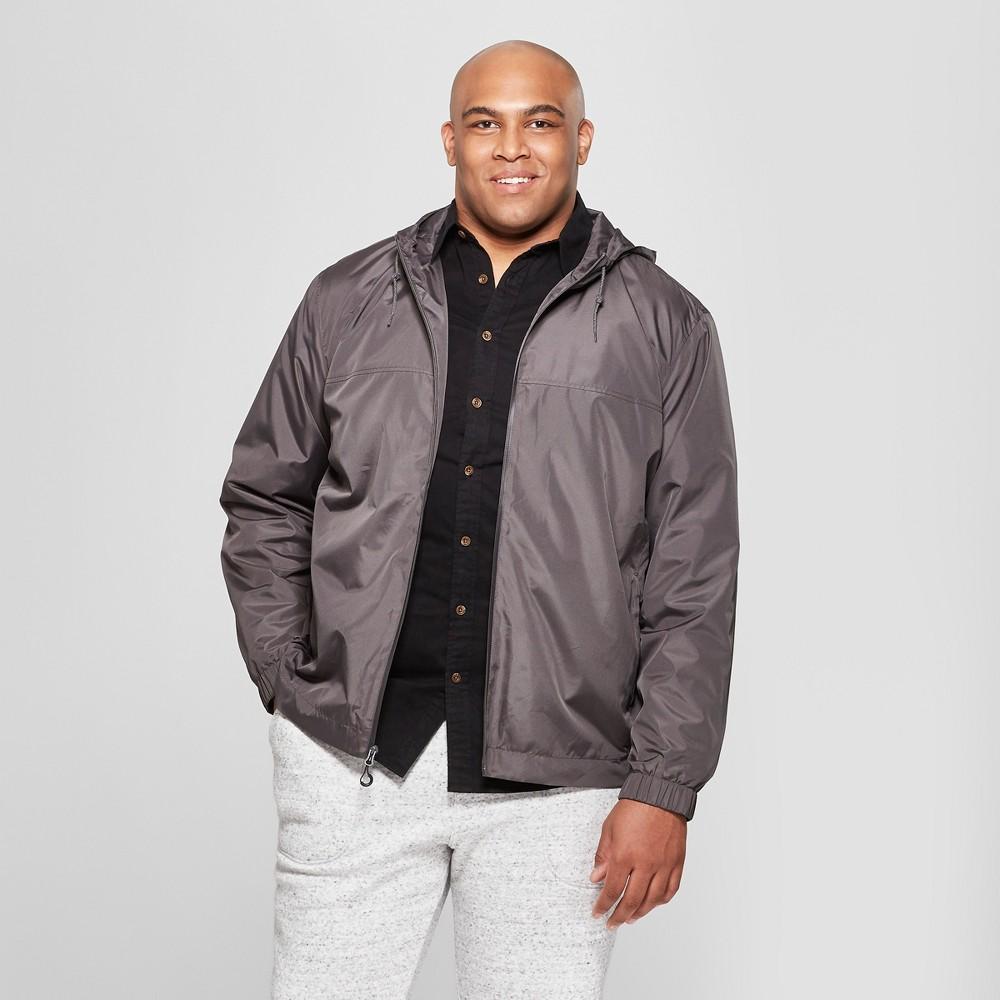 Men's Big & Tall Rain Jacket - Goodfellow & Co Gray 4XB