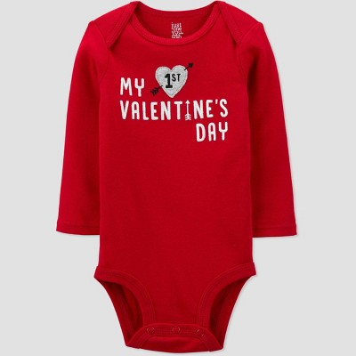 Baby 'My First Valentine's Day' Bodysuit - Just One You® made by carter's Red 3M