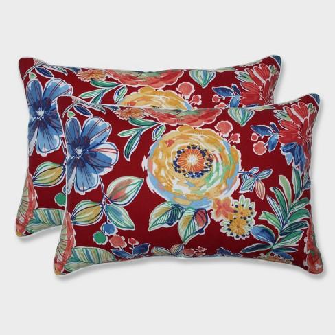 2pk Oversize Colsen Berry Rectangular Throw Pillows Red - Pillow Perfect - image 1 of 1