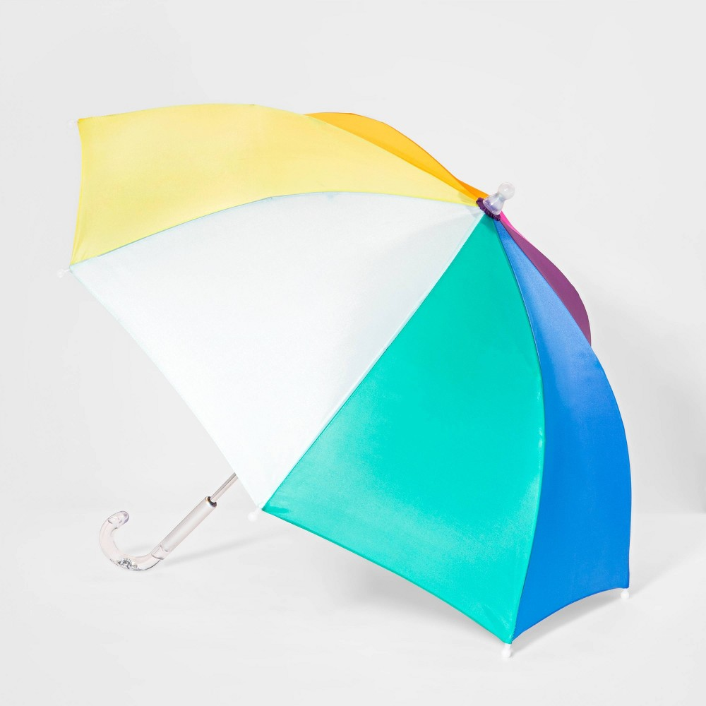 Image of Girls' Color Block Stick Umbrella - Cat & Jack, Multi-Colored