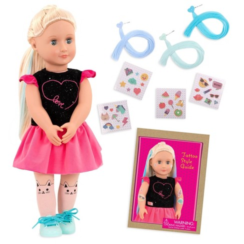 """Our Generation 18"""" Glow in the Dark Tattoo Doll - Luana - image 1 of 4"""