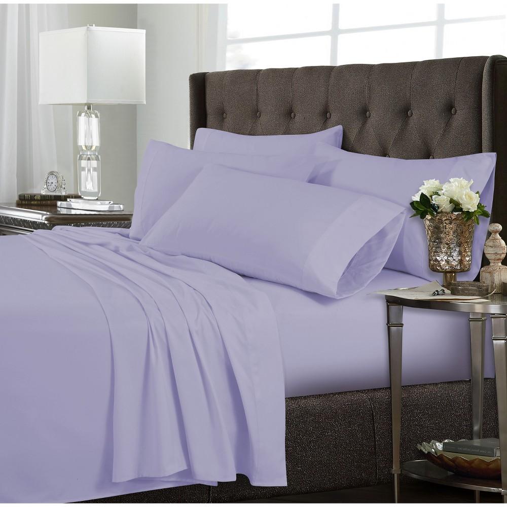 4pc Tribeca Living Microfiber Extra Deep Pocket Sheet Set Twin Extra Long - Lavender (Purple)