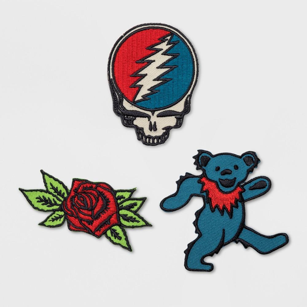Junk Food Grateful Dead Badges 3pc, Multi-Colored