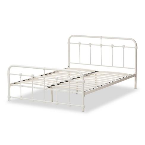 ea0609c985043 Mandy Industrial Style Finished Metal Platform Bed - Baxton Studio   Target