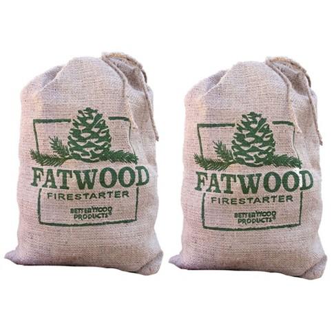 Betterwood Products Fatwood Firestarter 10 Pound Burlap Bag (2 Pack) - image 1 of 4