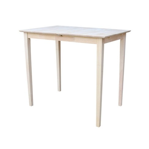 Bar Height Table With Erfly Extension Unfinished International Concepts