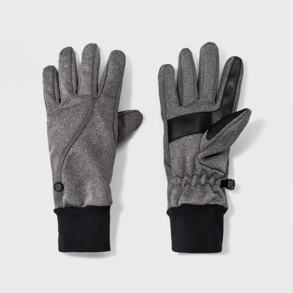 Women's Soft Shell Stitch Gloves - C9 Champion Gray/Black S/M, Gray Heather