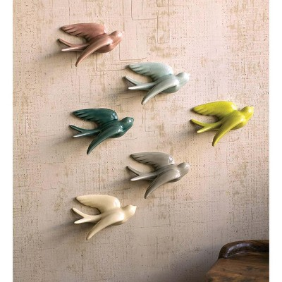 VivaTerra Ceramic Bird Wall Decor