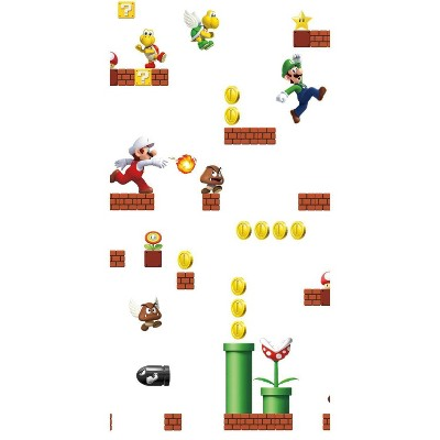 Nintendo Super Mario Peel and Stick Wallpaper - Roomates