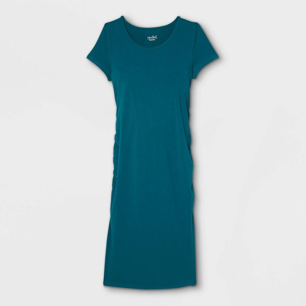 Short Sleeve T Shirt Maternity Dress Isabel Maternity By Ingrid 38 Isabel 8482 Teal Xs