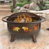 "36"" Patio Lights Fire Dance Wood Burning Fire Pit - Brown - Landmann - image 3 of 4"