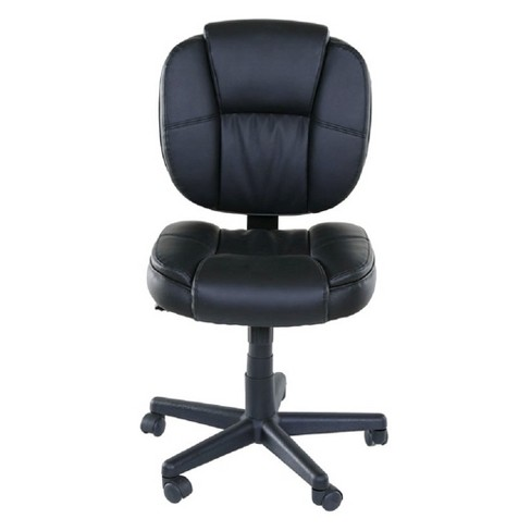 Basics Midback plush task chair Tilt And Height Adjustment Black - OneSpace - image 1 of 10