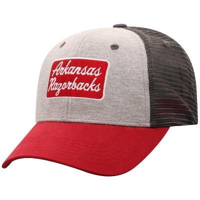 NCAA Arkansas Razorbacks Men's Gray Cotton with Mesh Snapback Hat