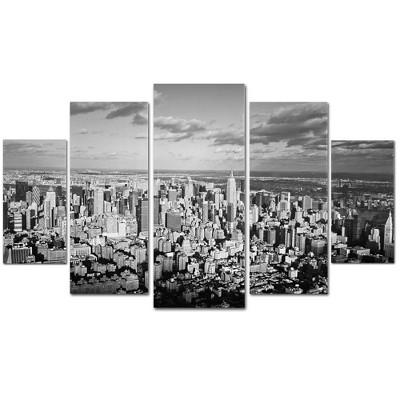 5pc Aerial City by Ariane Moshayedi - Trademark Fine Art