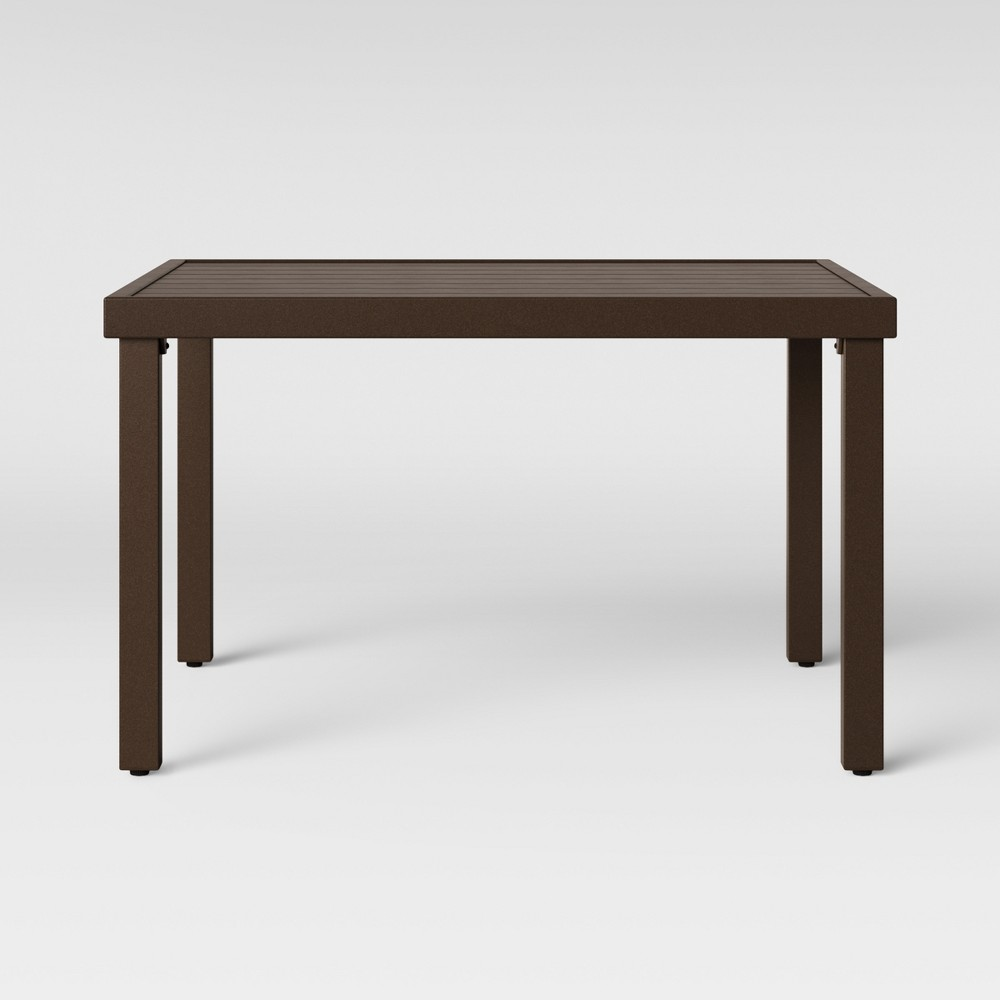 Halsted Patio Coffee Table Brown - Threshold