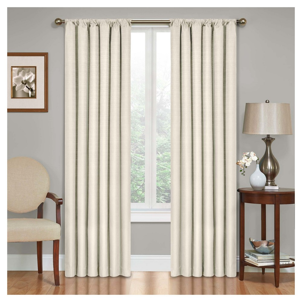 Kendall Thermaback Blackout Curtain Panel Ivory (42