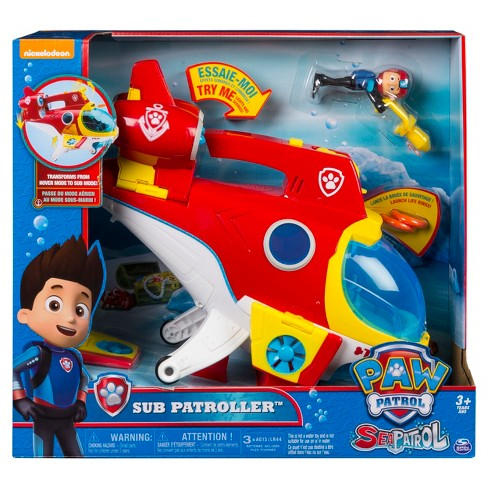 PAW Patrol Sub Patroller Transforming Vehicle With Lights, Sounds And Launcher : Target