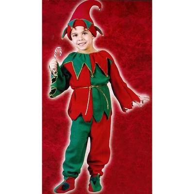 Fun World Red and Green Elf Plush Unisex Child Christmas Costume - Small