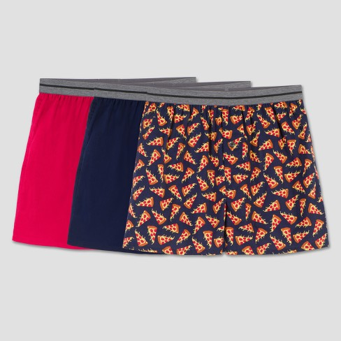 Fruit of the Loom Boys' 3pk Pizza Print Boxer Shorts - image 1 of 2