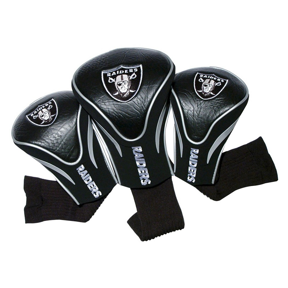 Oakland Raiders Team Golf 3 Pack Contour Head Cover