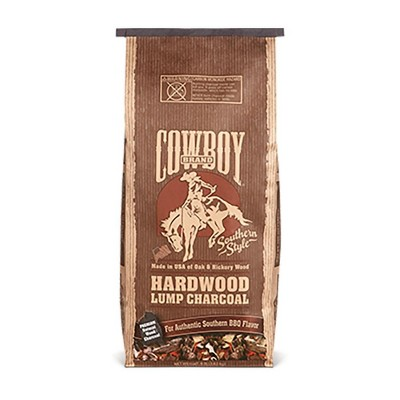 Cowboy 18 Pound Bag of Southern Style Hardwood Lump BBQ Charcoal for Outdoor Cooking Grills and Smokers