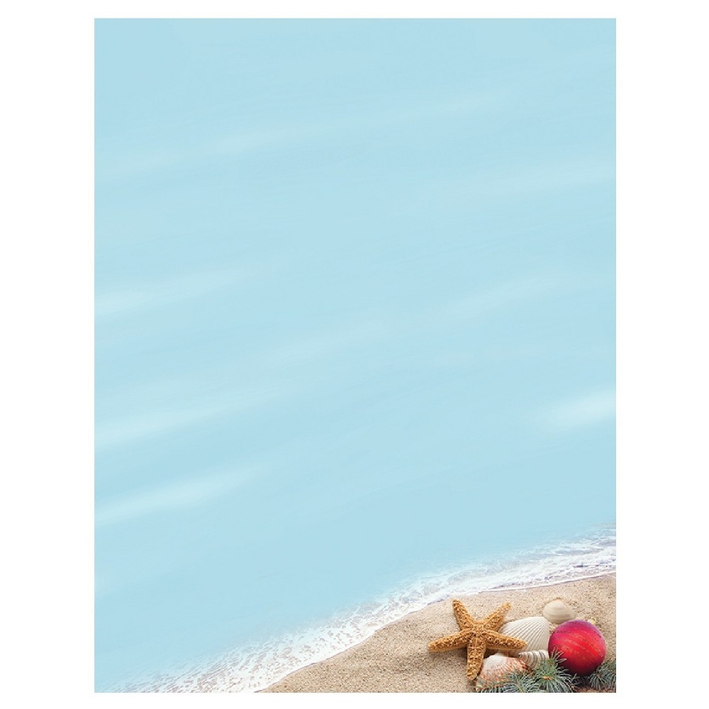 80ct Beachy Holiday Letterhead