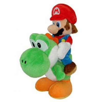 Super Mario Bros Mario 8 Inch Plush Riding Green Yoshi Target