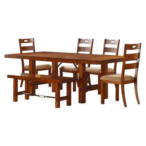 6pc Etna Extendable Dining Set Rustic Oak - Inspire Q - image 1 of 4