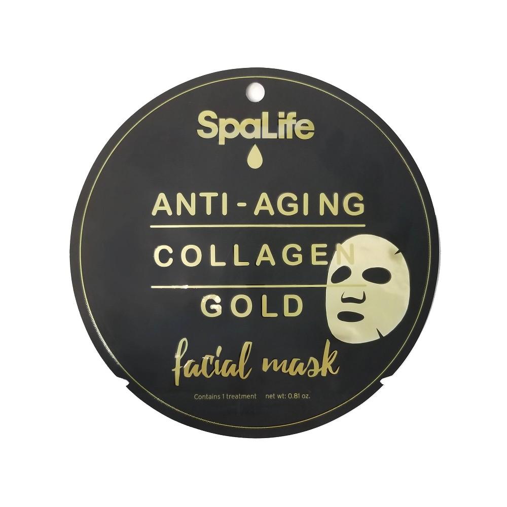 Image of SpaLife Collagen Face Mask - Gold - 0.81 fl oz