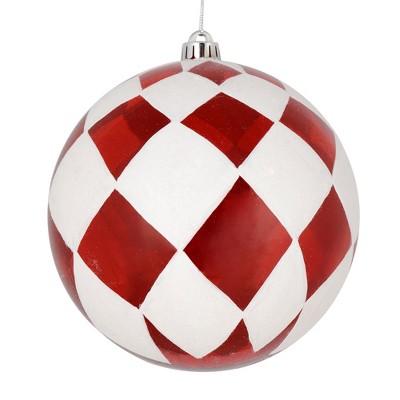 Vickerman Ball with White Diamond Glitter Christmas Ornament