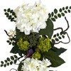 "Nearly Natural Hydrangea Teardrop White (28"") - image 2 of 3"