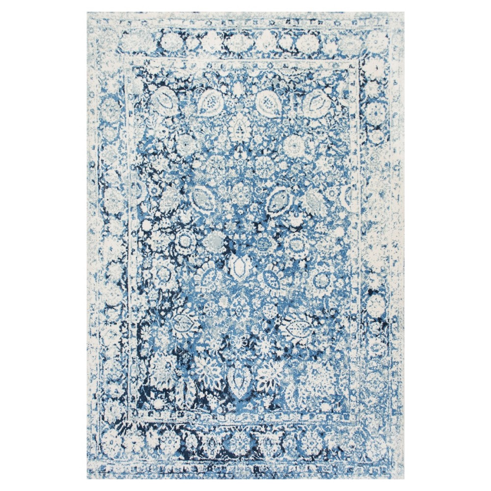 Blue Solid Loomed Area Rug - (5'x8') - nuLOOM, Beige Blue