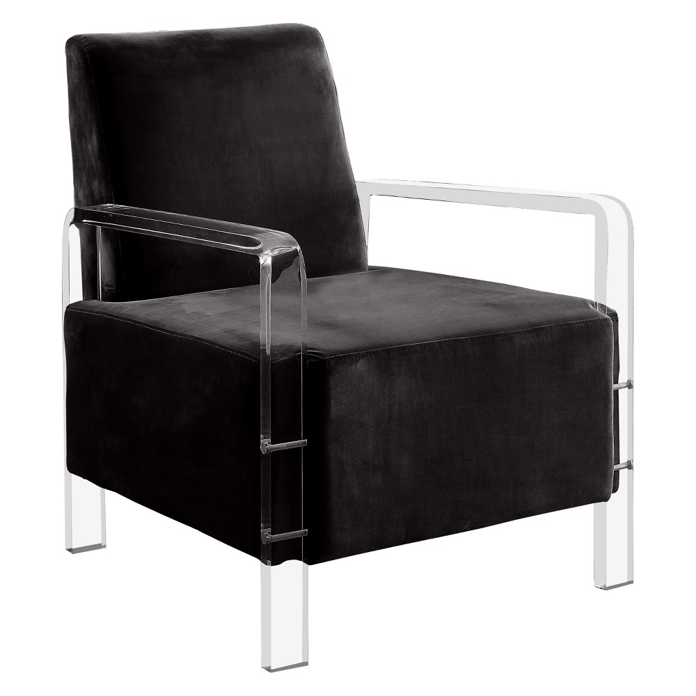 Crider Contemporary Acrylic Frame Accent Chair Black - Homes: Inside + Out