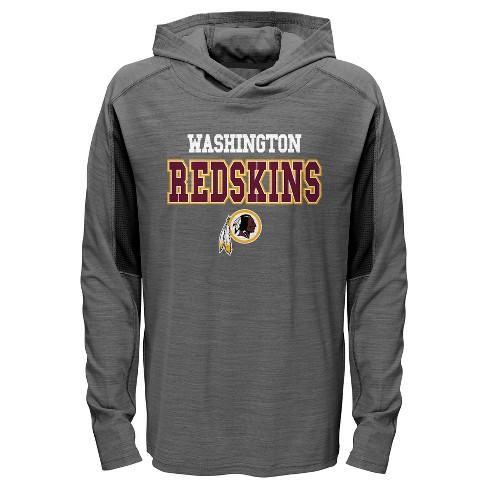 NFL Washington Redskins Boys  Sideline Speed Gray Lightweight Hoodie ... 9031319ad
