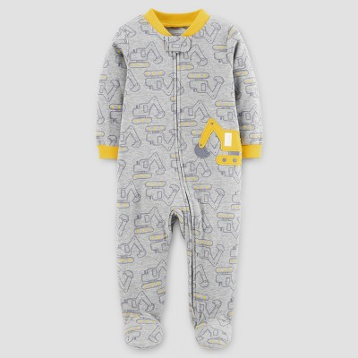 Baby Boys' Cotton Trucks Sleep N' Play - Just One You™ Made by Carter's® Gray 6M