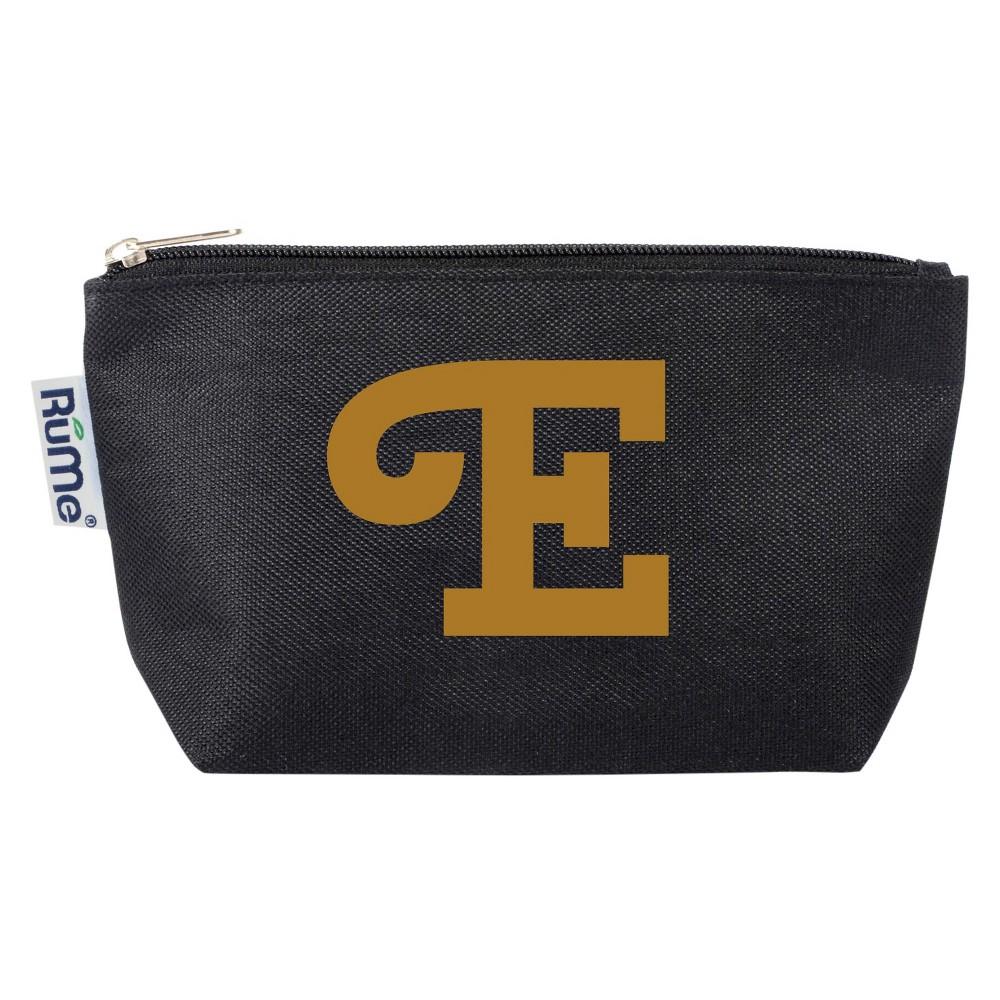 Travel Customized Cosmetic Pouch: Black - Metallic Monogram P