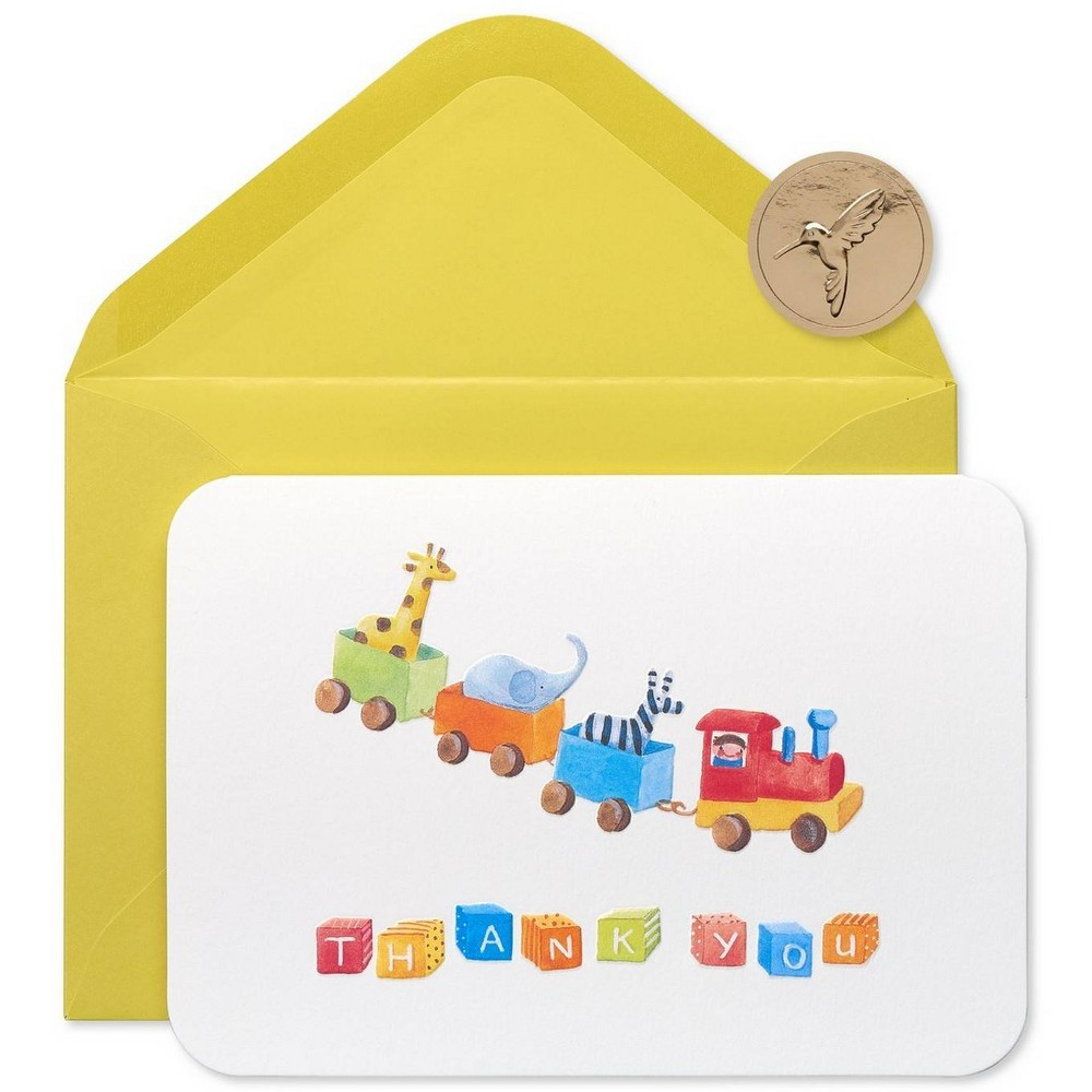 Image of 12ct Toy Train Thank You Boxed Blank Note Cards - PAPYRUS