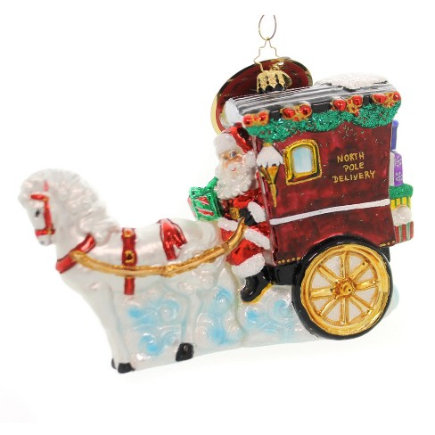 """Christopher Radko 5.25"""" Hold Your Horses Santa! Stage Coach - image 1 of 2"""