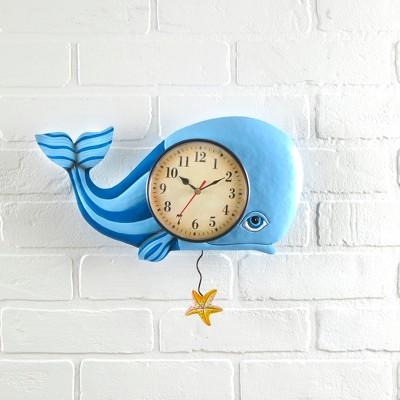 Lakeside Pendulum Wall Clock – Ocean Decor – Beach House Decor - Whale
