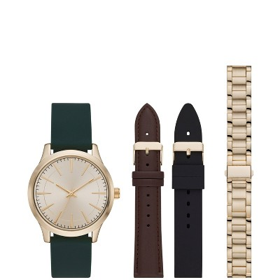 Men's Interchangeable Strap Watch Set - Goodfellow & Co™ Green