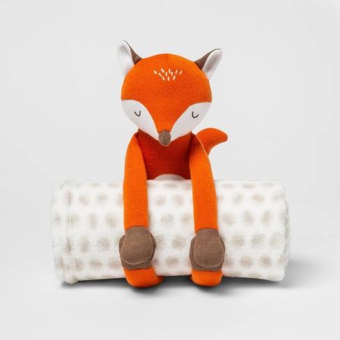 Fox Throw Buddy Blanket White - Pillowfort™ - image 1 of 2