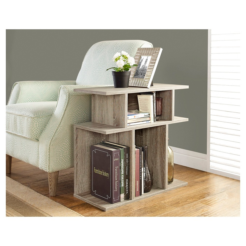 Cheap End Table - Reclaimed Wood-look - EveryRoom