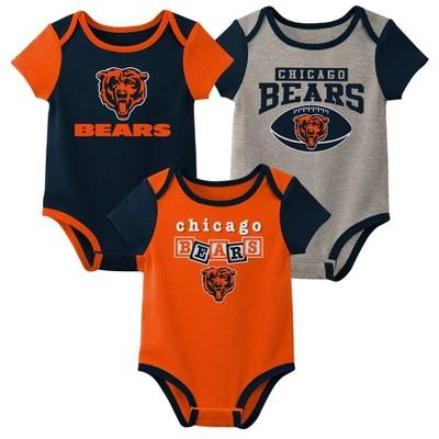 NFL Chicago Bears Baby Boys' Newest Fan 3pk Bodysuit Set