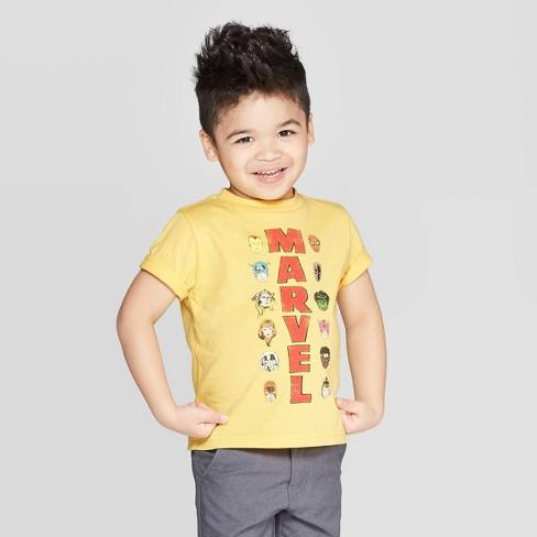 Toddler Boys' Marvel Avengers Short Sleeve T-Shirt - Gold - image 1 of 3