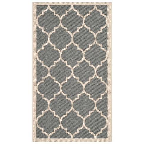 Sabel Outdoor Patio Rug - Anthracite / Beige - Safavieh® - image 1 of 1