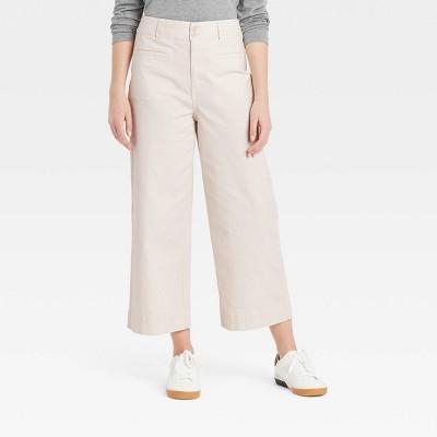 Women's High-Rise Cropped Wide Leg Fashion Pants - A New Day™