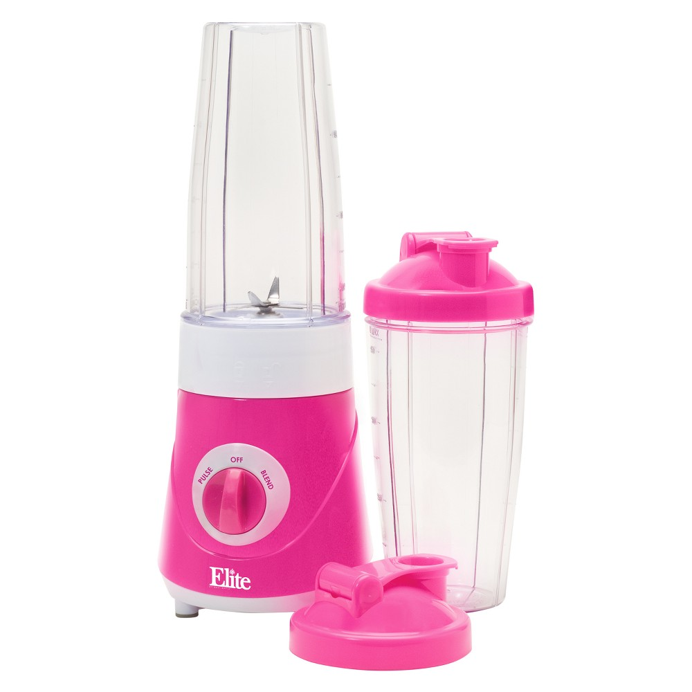 Elite Cuisine Personal Drink Mixer - Pink 717056121954 Enjoy fresh and delicious frozen drinks, smoothies, protein shakes, milk shakes and more in just minutes with the Elite Cuisine, Personal Drink Blender. A handy travel lid lets you blend and drink in the same cup, eliminating the need for extra dishes. Perfect for your busy, on-the-go healthy lifestyle! Color: Pink.